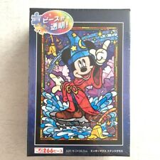 Disney Mickey Fantasia / Stained Art Jigsaw Puzzle 266 Pieces Tenyo From JAPAN