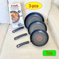 2020 T-Fal Titanium Nonstick Fry Pan Set 3 Piece Cookware Dishwasher/Oven safe