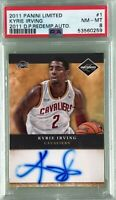 Kyrie Irving 2011 Panini Limited Draft Picks Redemption Rookie Autograph PSA 8