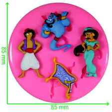 Aladdin Princess Jasmine and Genie Silicone Mould by Fairie Blessings