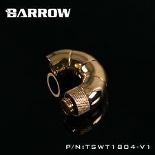 Barrow 180 Degree 5 Way Rotary Snake Fitting Adapter G1/4 Thread M to F GOLD