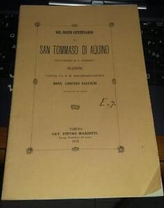 san tommaso di aquino-sesto centenario-orazione mons.lorenzo gastaldi-1874
