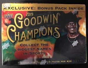 2019 Upper Deck Goodwin Champions Mega Box 13 Packs MICHAEL JORDAN on cover!