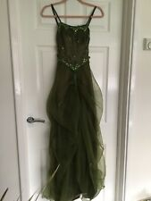 Olive Green Theatrical Dress 8 10 12