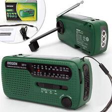 DEGEN DE13 Digital Handkurbel Radio Weltempfänger Crank Dynamo Sonnen AM/FM/SW