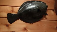 Fish taxidermy, fluke, flounder,deep sea, mancave camp, decor,home,fishreplica