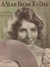 """NORMA TALMADGE film song NEW YORK NIGHTS """"A Year From Today"""" AL JOLSON 1929"""