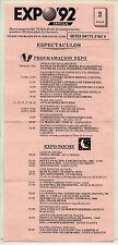 Expo 92 Sevilla Programa de Actos del día 2 de Julio (CF-524)