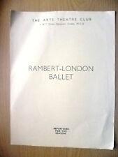 Arts Theatre Club-RAMBERT LONDON BALLET-DANCES FROM AURORA/BAR AUX FOLIES BERGER