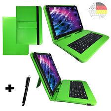 Deutsch Tastatur Hülle - Samsung Galaxy Tab A 10.1 zoll Tablet Tasche Case Grün