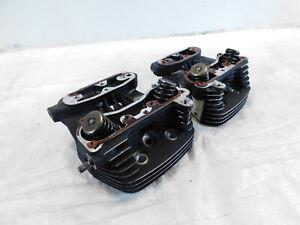 1991-2003 Harley Davidson Sportster XLH 1200 Black Cylinder Heads w/ Valves