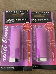Lot Of 2 Maybelline NY ColorSensational   Lipstick  #725  Lilac Flush