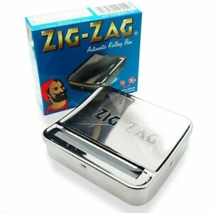 New Zig Zag TIN Automatic Cigarette Tobacco Rolling Machine Box