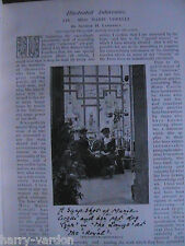 Marie Corelli Fairy Story Writer Author Rare Old Antique Victorian Article 1898