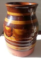 Art Studio Pottery Vase Mid Century Modern Style Church Makers Mark Vintage