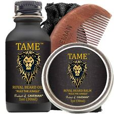 Hand Crafted Caveman® Beard Oil Set KIT Beard Oil + Balm FREE Comb  New Arrival!