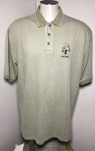 Grumpy Golf Disney Catalog Polo Mens Sz Measured Tan Short Sleeve Golfers Shirt
