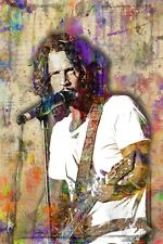 CHRIS CORNELL 12x18in Tribute Poster Chris Cornell Soundgarden Free Shipping US
