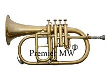 PREMIER BRAND NEW Bb Flat BRASS POLISH 4 VALVE FLUGEL HORN WITH FREE HC+MP