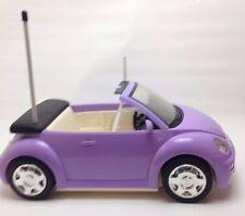 "Mattel 2003 Barbie Purple VW Beetle Bug Convertible RC Car 16"" No Remote"