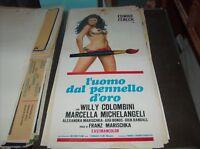 L'UOMO DAL PENNELLO D'ORO locandina originale 1969 EDWIGE FENECH