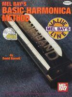 Basic Harmonica Method Learn How to Play Tutor Book with CD