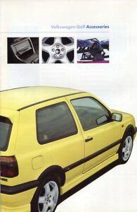 VOLKSWAGEN VW GOLF Mk3 ACCESSORIES - 1997 UK sales brochure - 20 pages