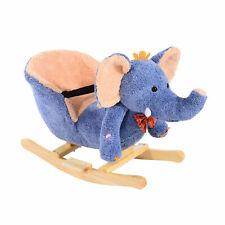 Rocking Horse Ride on Toy Seat Belt Safety Toddler Elephant Music