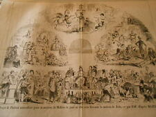 Caricature 1879 - Project Ceiling naturalist for Home Molière Home Zola