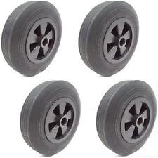 4 Stück Gummiräder Gummirad 200 mm Rolle Laufrolle Rad Vollgummirad 20cm 200 mm