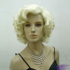 Womens Sexy Short Blond Curly Wig Party Hair Full Wigs Marilyn Monroe Cospaly
