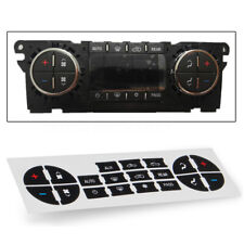 Heater A/C Frost Pass AUX Button Repair Kit Dash Decal Stickers For GM 07-13 PVC