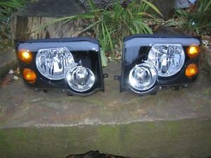 LAND ROVER DISCOVERY II HEADLAMPS FACELIFT MODEL - PAIR
