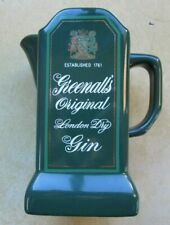 Vintage Greenall'S Original London Dry Gin Castle Ceramics Pitcher Very Rare
