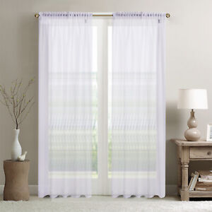 a piece of wide sheer voile curtain with 10cm tape top