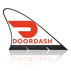Magnetic Doordash Car Sign , CARFIN Car Flags & Signs
