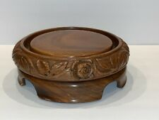 Vintage Chinese Carved Display Wood Stand Base