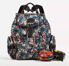 New Zara Jungle Printed Technical Fabric Backpack Medium Women Multicolour