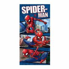Spiderman Blue Towel Beach Bath 100% Cotton Kids Marvel