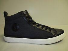 6349bd902771 Polo Ralph Lauren Sz 7.5 M CLARKE Black High Top Fashion Sneakers New Mens  Shoes