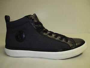 Polo Ralph Lauren Sz 7.5 M CLARKE Black High Top Fashion Sneakers New Mens Shoes