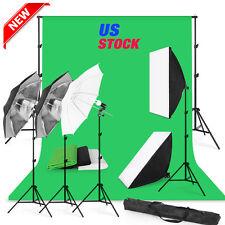NEW! Photo Studio Photography Kit softbox Lighting Muslin Backdrop Stand Set MG