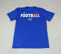 Nike Florida Gators Shirt Adult Medium Blue Orange DriFit Football UF Mens A01*