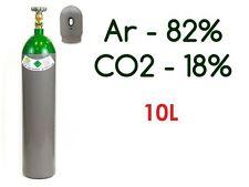 NEW PLEINE BOUTEILLE CYLINDRE DE GAZ ARGON 82% CO2 18% 10 LITRES 200 BAR