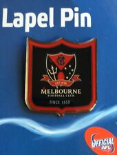 AFL Badge Lapel Shield Pin Melbourne Demons Football Freight on Card