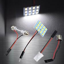 1x White 12 LED Lamp Dome Roof Light Panel T10 Festoon BA9S Adapter W1 C D B