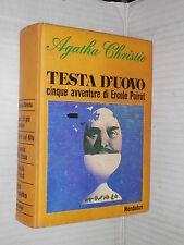TESTA D UOVO Cinque avventure di Ercole Poirot Agatha Christie Mondadori 1968 di
