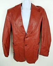 Lance Limited Men's Red Leather Fight Club Jacket Size 42