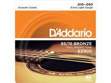 D'Addario EZ900 Muta di corde per chitarra acustica Extra Light 010-050