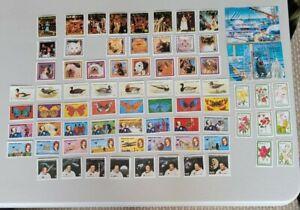 Equatorial Guinea Stamps x 8  plus 2 Souvenir sheets and 63 Cinderellas  MNH